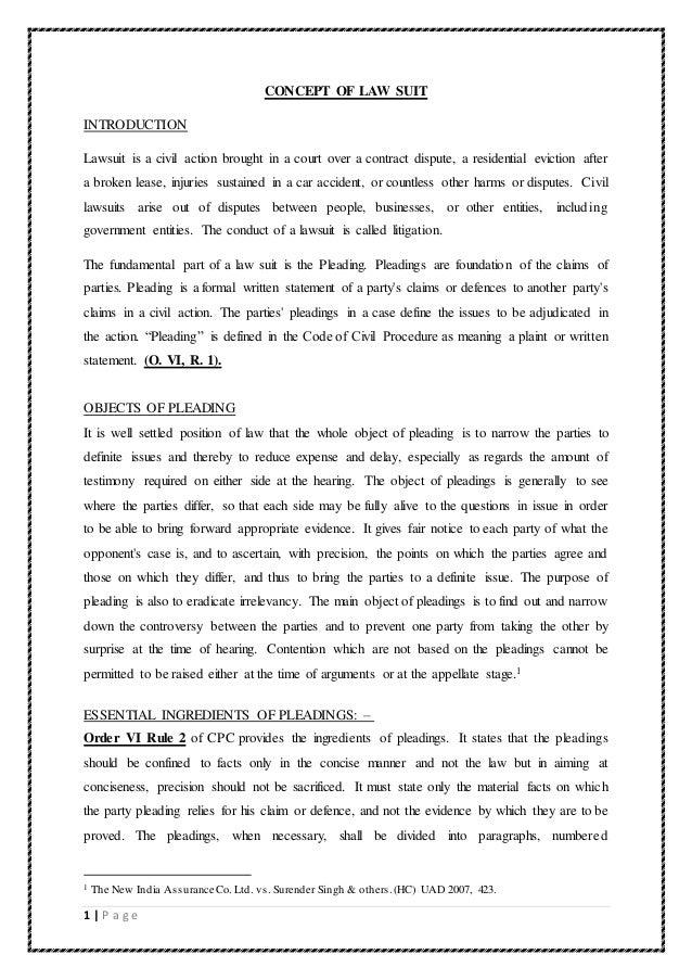 written statement meaning
