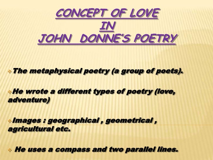 write an essay on john donne as a poet of love