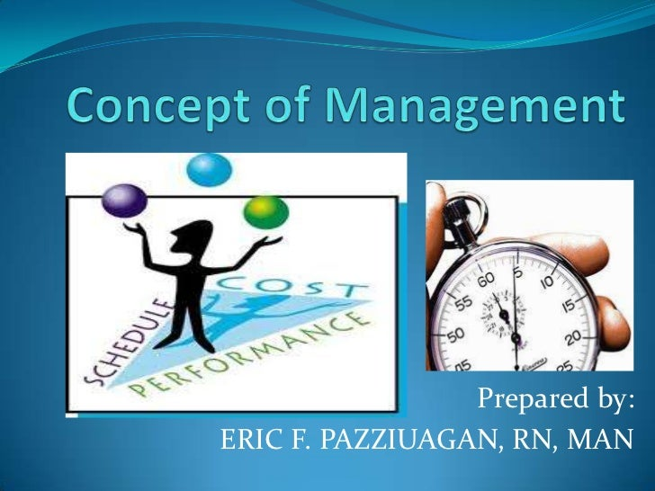 Concept of Management<br />Prepared by:<br />ERIC F. PAZZIUAGAN, RN, MAN<br />