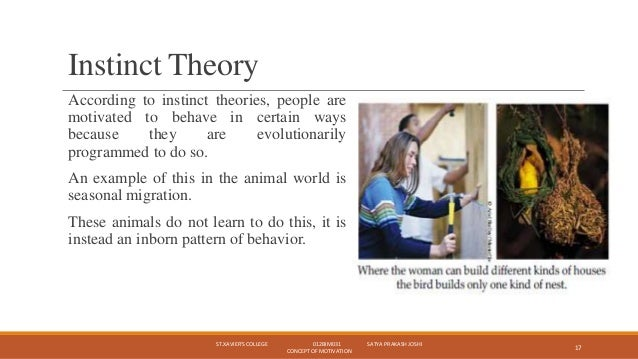 example of motivation in psychology