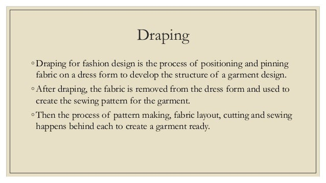 Concept Of Pattern Draping