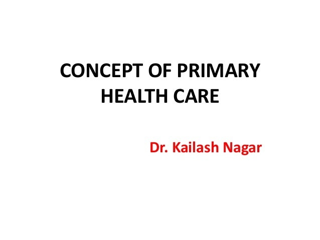 Concept of primary health care