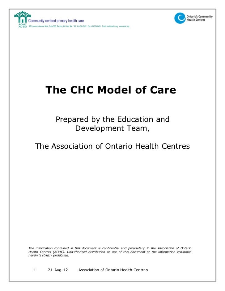 The CHC Model of Care                 Prepared by the Education and                      Development Team,    The Associat...