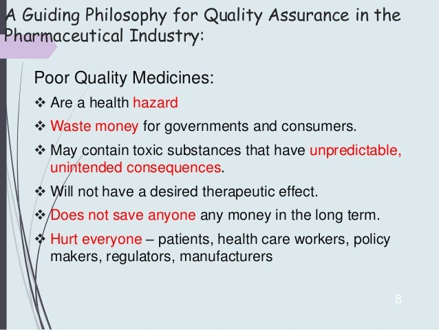 quality assurance in pharmaceutical industry pdf