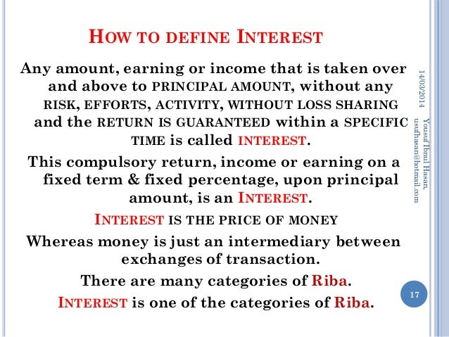 Concept of riba interest profit in islamic economics system for Terest definition