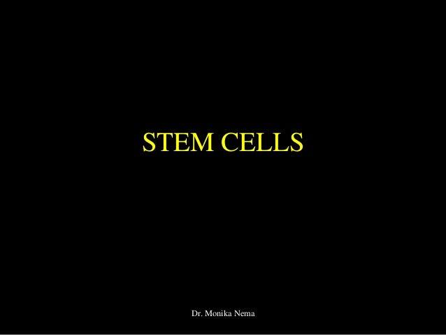 STEM CELLS Dr. Monika Nema