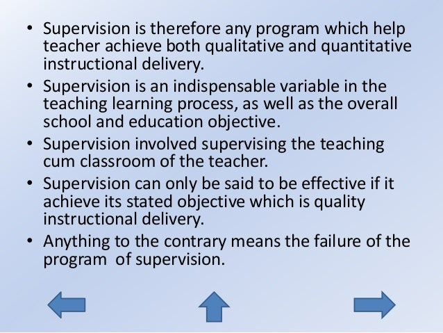 supervision for instructional improvement Relevance of instructional supervision in the achievement of effective learning in nigerian secondary schools  relevance of instructional supervision in effective.