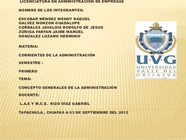 LICENCIATURA EN ADMINISTRACIÓN DE EMPRESASNOMBRE DE LOS INTEGRANTES:ESCOBAR MÉNDEZ WENDY RAQUELGALVEZ MONZON GUADALUPECORR...