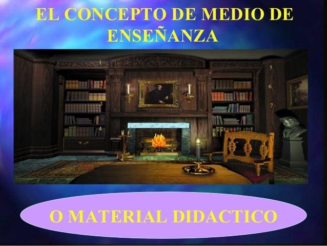 1 2 3 4 5 6 7 EL CONCEPTO DE MEDIO DE ENSEÑANZA O MATERIAL DIDACTICO