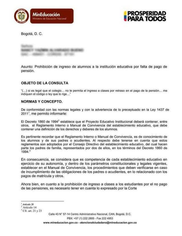 Prohibición de ingreso de alumnos a la institución educativa por falta de pago de pensión