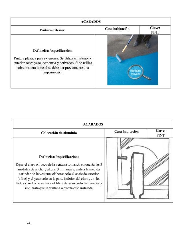 Conceptos de obra en la construcci n for Definicion exterior