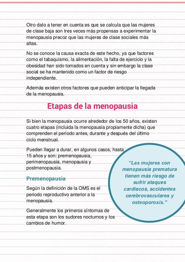 """""""Las mujeres con menopausia prematura tienen más riesgo de sufrir ataques cardiacos, accidentes cerebrovasculares y osteop..."""