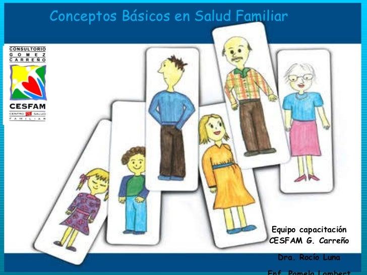 Equipo capacitación CESFAM G. Carreño Dra. Rocío Luna Enf. Pamela Lambert Conceptos Básicos en Salud Familiar