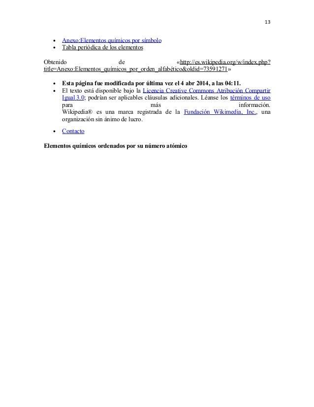 vase tambin 13 13 anexoelementos qumicos por smbolo tabla peridica - Tabla Periodica De Los Elementos Quimicos Actualizada Wikipedia