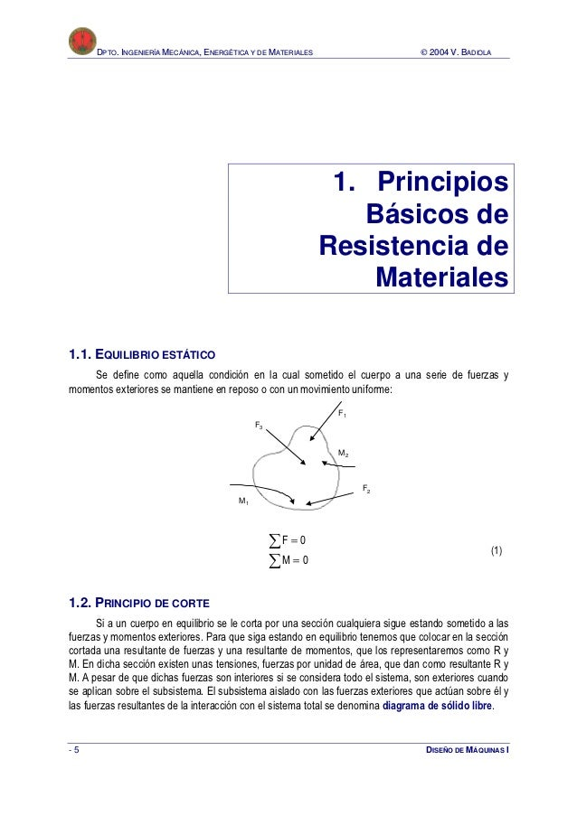 DPTO. INGENIERÍA MECÁNICA, ENERGÉTICA Y DE MATERIALES                       © 2004 V. BADIOLA                             ...
