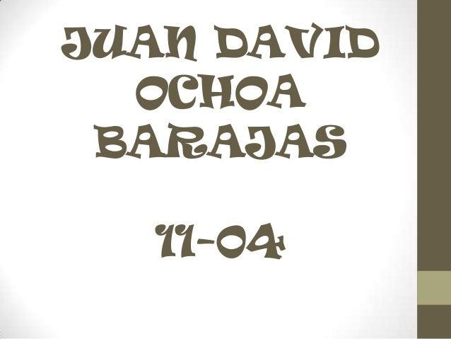 JUAN DAVID OCHOA BARAJAS 11-04