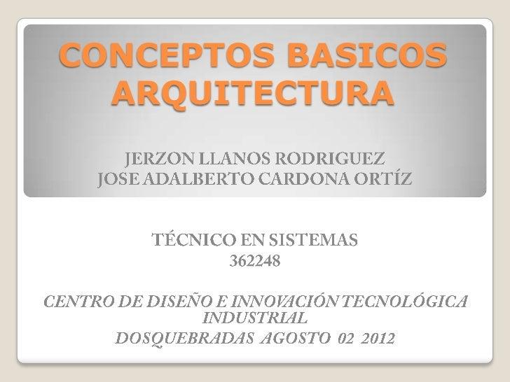 Conceptos b sicos arquitectura for El concepto de arquitectura