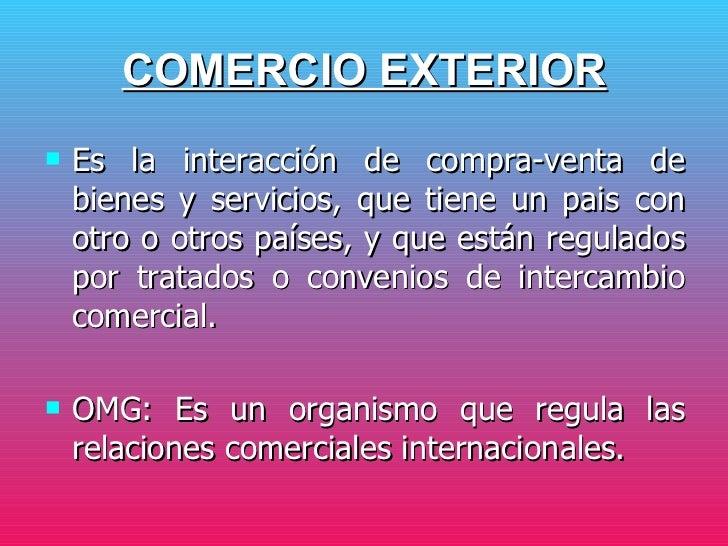 ... 3. COMERCIO EXTERIOR ...