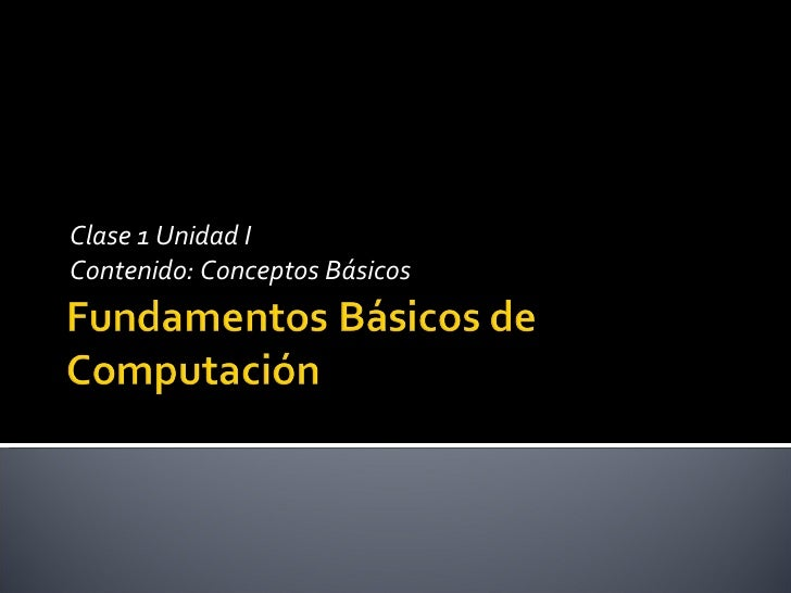 Conceptos Basicos de Computacion