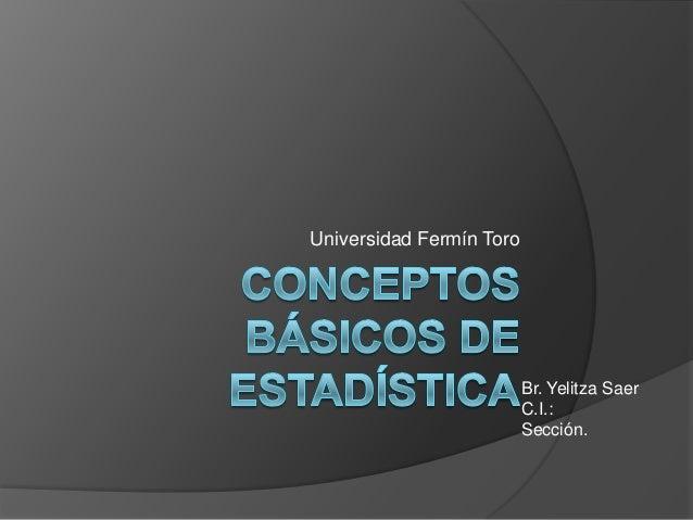 Universidad Fermín ToroBr. Yelitza SaerC.I.:Sección.