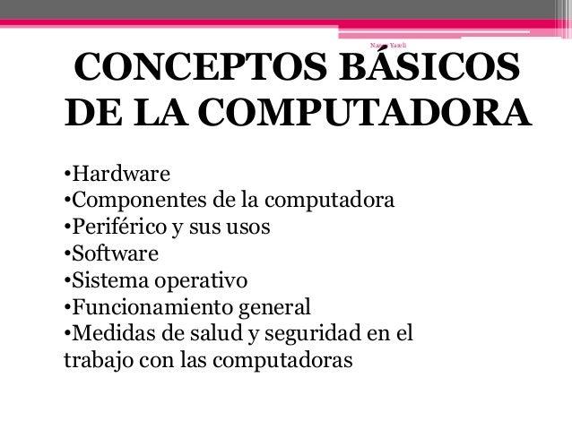 Conceptos B Sicos De La Computadora