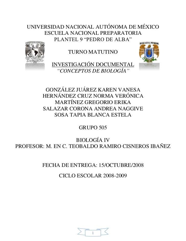 UNIVERSIDAD NACIONAL AUTÓNOMA DE MÉXICO        ESCUELA NACIONAL PREPARATORIA           PLANTEL 9 ―PEDRO DE ALBA‖          ...