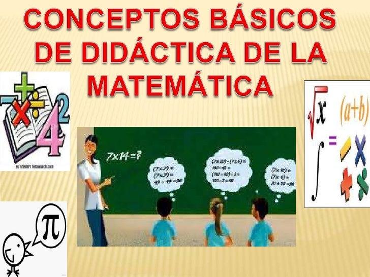 Introducción a la jerga de la didáctica de la                matemática