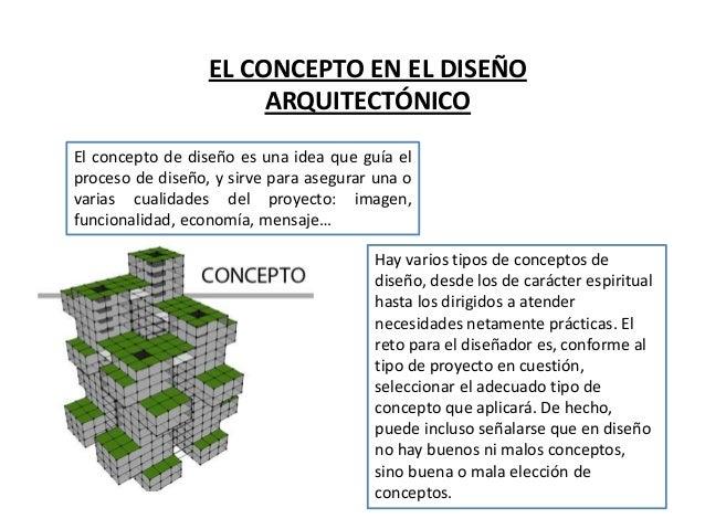 Conceptos de dise o arquitectonicos for Conceptualizacion de la arquitectura