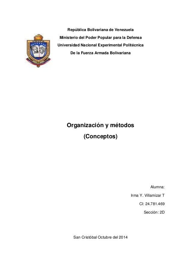 República Bolivariana de Venezuela  Ministerio del Poder Popular para la Defensa  Universidad Nacional Experimental Polité...