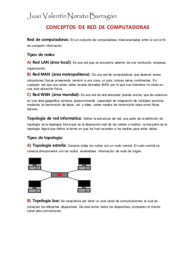 Conceptos De Red De Computadoras