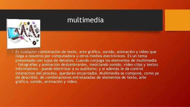 Conceptos de sistema multimedia y sus usos bolo Slide 2