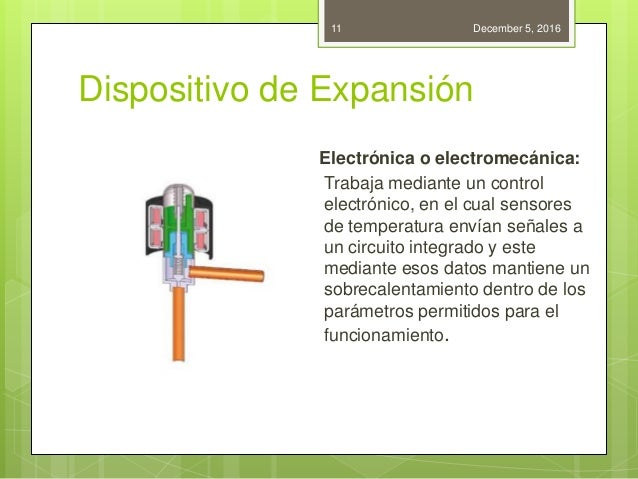 Dispositivo de Expansión Electrónica o electromecánica: Trabaja mediante un control electrónico, en el cual sensores de te...