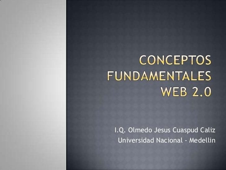 I.Q. Olmedo Jesus Cuaspud Caliz  Universidad Nacional - Medellin