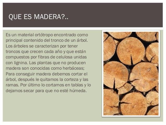 conceptos generales de la madera