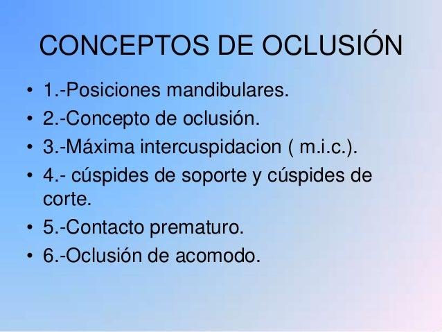 Conceptos oclusales Slide 2