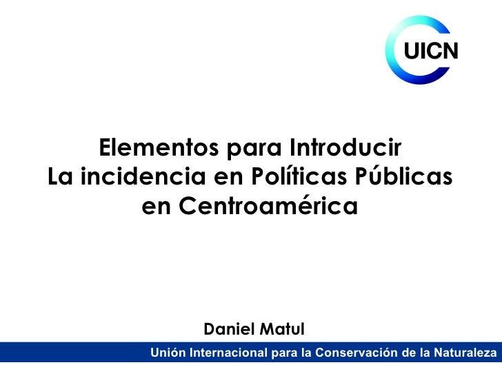 Conceptos y herramientas en incidencia