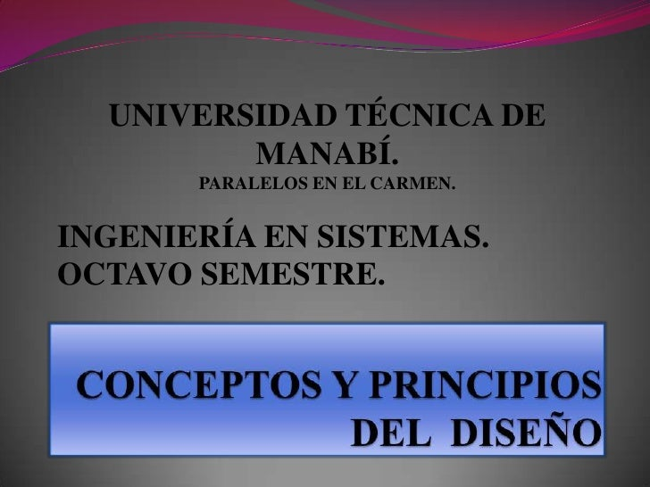 UNIVERSIDAD TÉCNICA DE MANABÍ.PARALELOS EN EL CARMEN.<br />INGENIERÍA EN SISTEMAS.<br />OCTAVO SEMESTRE.<br />CONCEPTOS Y ...