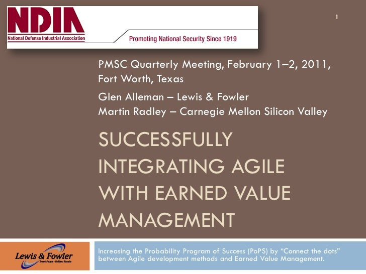1PMSC Quarterly Meeting, February 1–2, 2011,Fort Worth, TexasGlen Alleman – Lewis & FowlerMartin Radley – Carnegie Mellon ...