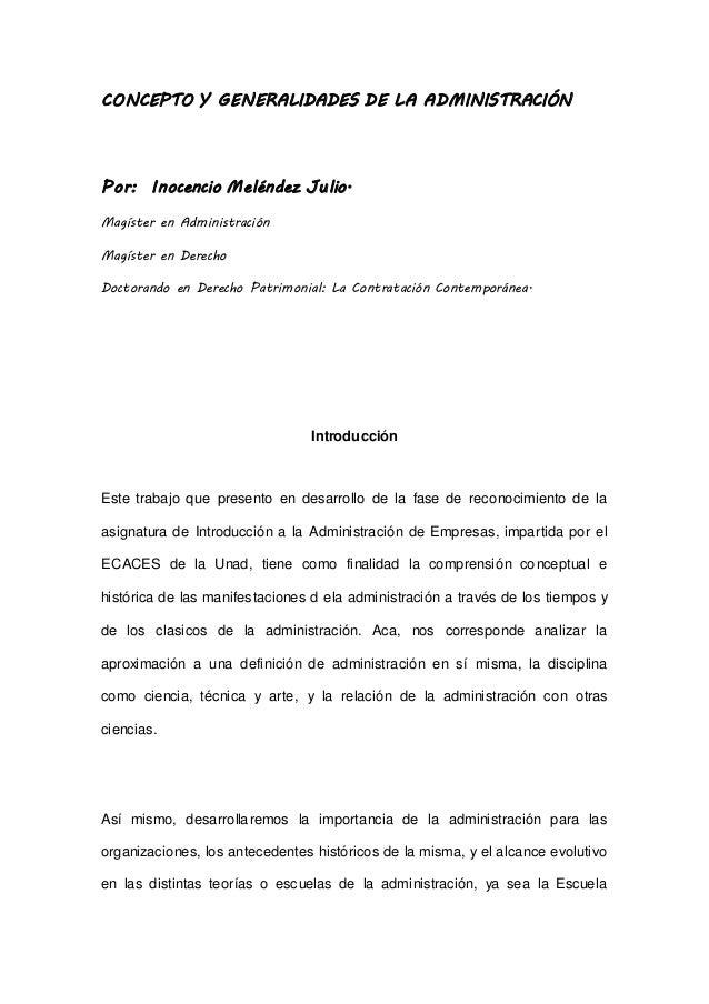Concepto y generalidades de administraci n abogado for Concepto de tecnicas de oficina