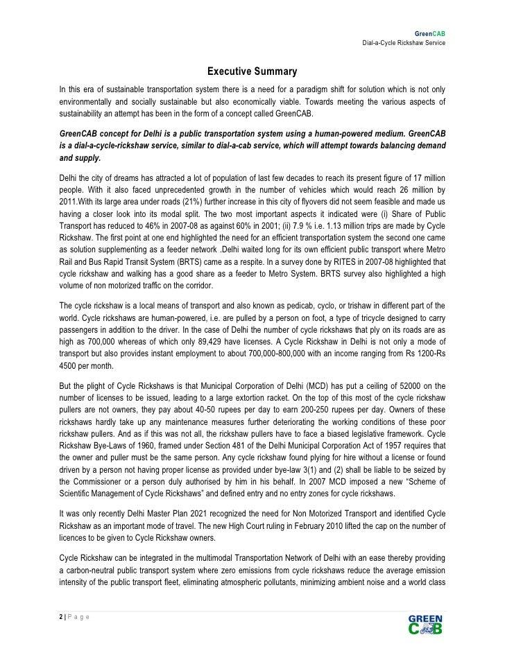 executive summary cycle rickshaw 27 amendments summary bill of read more  executive summary: cycle rickshaw executive summary: contents and characteristics executive summary.