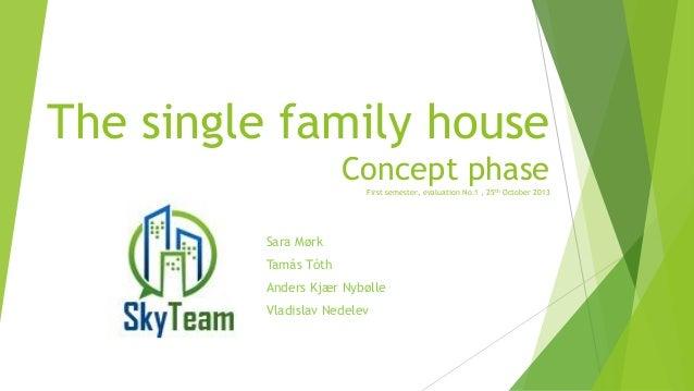 The single family house Concept phase First semester, evaluation No.1 , 25th October 2013  Sara Mørk Tamás Tóth Anders Kjæ...