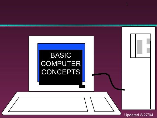 1  BASICCOMPUTERCONCEPTS           Updated 8/27/04