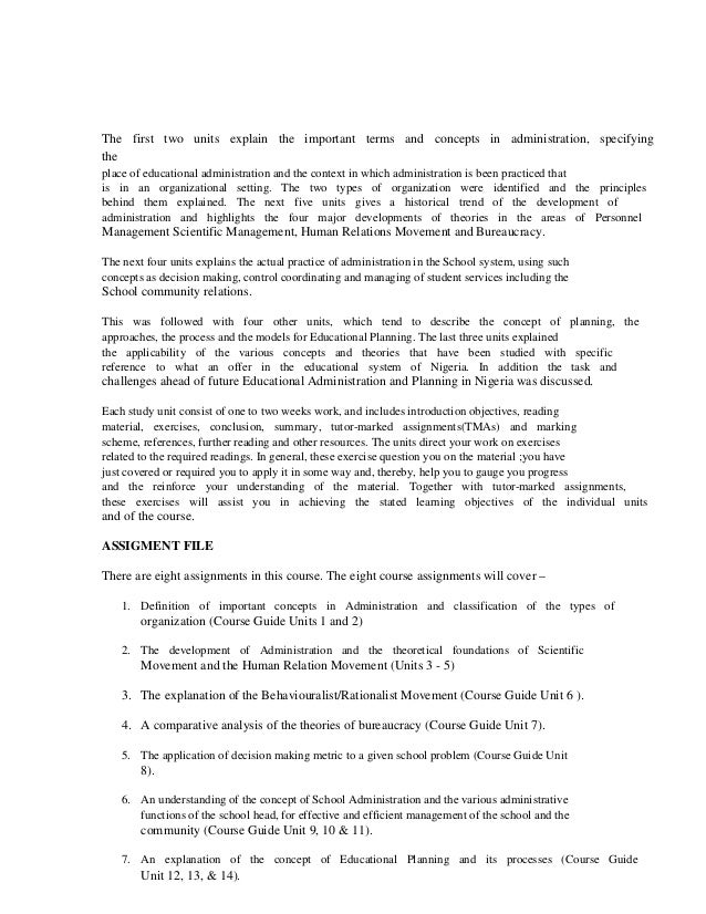Concepts and theories of educational admin and planning – Figures of Speech Worksheet