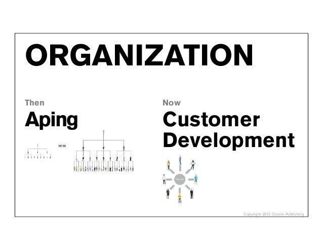 ORGANIZATIONThen        NowAping       Customer       ==   Development                  Copyright 2012 Cowan Publishing