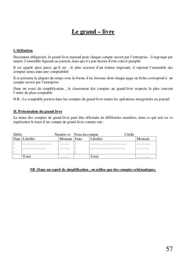 Concepts de base de la comptabilite generale - Le grand livre comptable ...