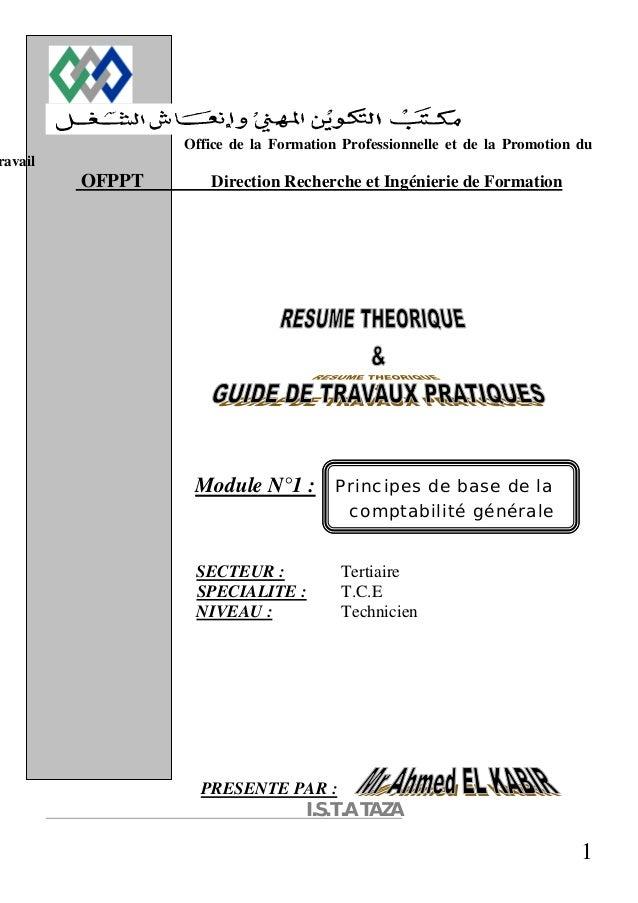 Office de la Formation Professionnelle et de la Promotion du  1  ravail  OFPPT Direction Recherche et Ingénierie de Format...