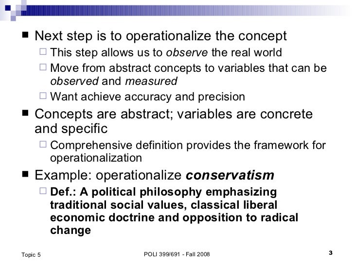 Concepts, Operationalization and Measurement Slide 3