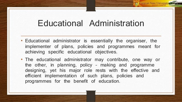 concepts and principles of organization administration and supervis