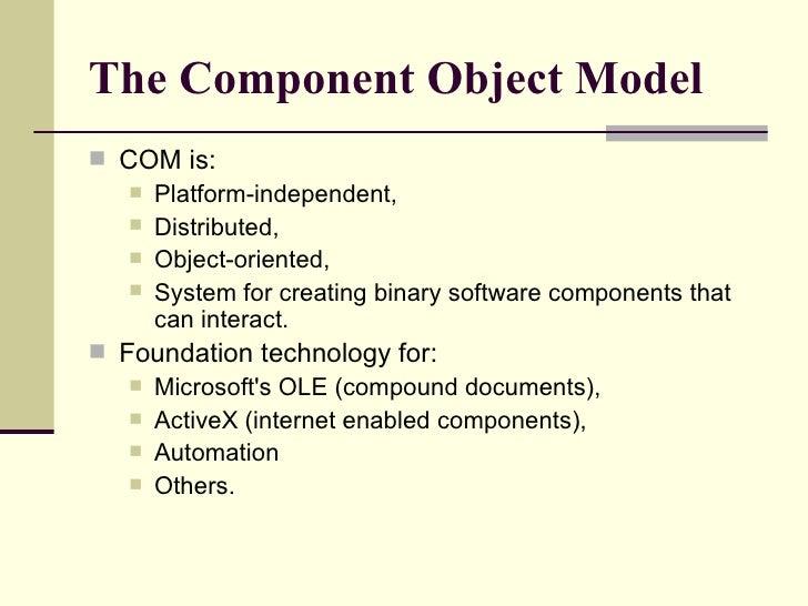 Component Object Model Com Pdf