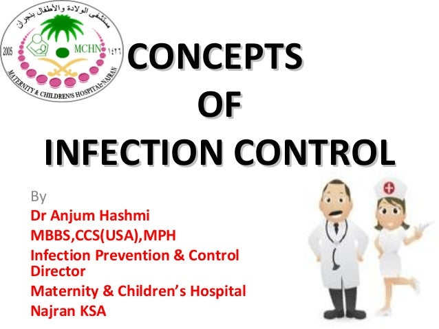 CONCEPTS         OF INFECTION CONTROLByDr Anjum HashmiMBBS,CCS(USA),MPHInfection Prevention & ControlDirectorMaternity & C...